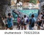 valencia  spain   august 19 ... | Shutterstock . vector #703212016