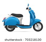 blue classic scooter isolated.... | Shutterstock . vector #703218130