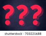 question marks symbols set.... | Shutterstock .eps vector #703221688