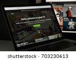 milan  italy   august 10  2017  ... | Shutterstock . vector #703230613