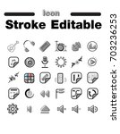 icon set in editable line style
