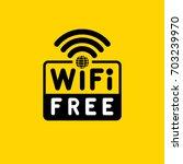 free wifi. vector illustration. | Shutterstock .eps vector #703239970