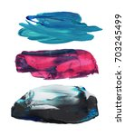 colorful paint brush stroke set.... | Shutterstock . vector #703245499