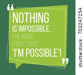 motivational quote. inspiration.... | Shutterstock .eps vector #703247254