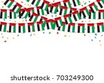 garland uae flags with white... | Shutterstock .eps vector #703249300