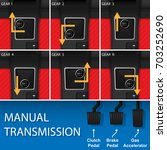 car vehicle manual transmission ... | Shutterstock .eps vector #703252690