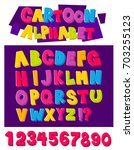 cartoon alphabet in 3d style... | Shutterstock .eps vector #703255123