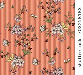 seamless floral pattern in... | Shutterstock .eps vector #703258183