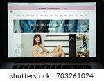 milan  italy   august 10  2017  ... | Shutterstock . vector #703261024