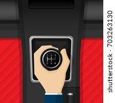 car vehicle manual transmission ... | Shutterstock .eps vector #703263130