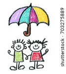 family social protection  kids... | Shutterstock . vector #703275889