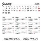 calendar. 2018 calendar. vector ... | Shutterstock .eps vector #703279564