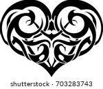 heart art tattoo   Shutterstock .eps vector #703283743