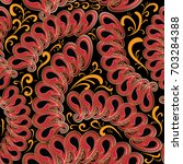 paisleys seamless pattern.... | Shutterstock .eps vector #703284388