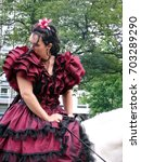 Small photo of LIEGE, BELGIUM - MAY 2006: Performer on horseback at the Liege Horse Festival (Fete du Cheval) in 2006.