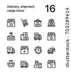 delivery  shipment  cargo icons ... | Shutterstock .eps vector #703289614