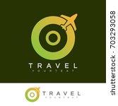 travel initial letter o logo...