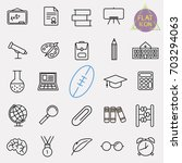 education line icon set | Shutterstock .eps vector #703294063