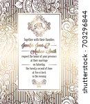 vintage baroque style wedding... | Shutterstock . vector #703296844