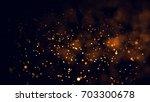 gold abstract bokeh background. ...   Shutterstock . vector #703300678