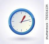blue wall clock. vector clip art | Shutterstock .eps vector #703316134