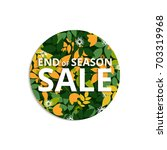 summer  autumn season sale... | Shutterstock .eps vector #703319968