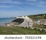 east sussex  england  14 august ... | Shutterstock . vector #703321198