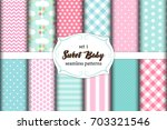 cute set of scandinavian sweet... | Shutterstock .eps vector #703321546