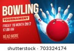 bowling realistic theme eps 10  ... | Shutterstock .eps vector #703324174