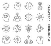 simple set of brainstorming... | Shutterstock .eps vector #703324960