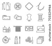 simple set of handmade related... | Shutterstock .eps vector #703324966