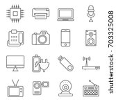simple set of electronics... | Shutterstock .eps vector #703325008