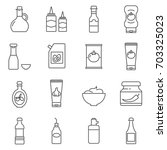 simple set of sauce related... | Shutterstock .eps vector #703325023