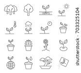 simple set of plants related... | Shutterstock .eps vector #703325104
