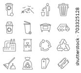 simple set of disposal related... | Shutterstock .eps vector #703325128