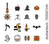 set of  halloween festival... | Shutterstock .eps vector #703337143