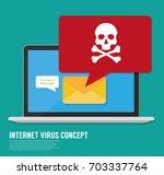 virus computer | Shutterstock .eps vector #703337764