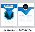 abstract vector modern flyers... | Shutterstock .eps vector #703344964