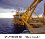 oil and gas industrial platform ... | Shutterstock . vector #703346164