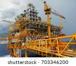 oil and gas industrial platform ... | Shutterstock . vector #703346200