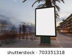 blank billboard in a footpath... | Shutterstock . vector #703351318
