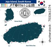 vector of jeju island  south... | Shutterstock .eps vector #703361374