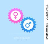 gear mechanism with pink and... | Shutterstock .eps vector #703363918