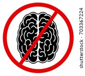 brain and symbol of crossing...   Shutterstock .eps vector #703367224