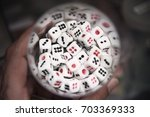 Group Of Six Sided Dice In...