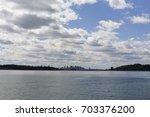 boston city skyline  from... | Shutterstock . vector #703376200