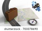 3d illustration of bright map... | Shutterstock . vector #703378690