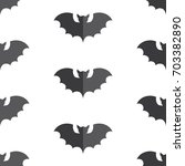 halloween seamless pattern... | Shutterstock . vector #703382890