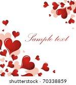 valentine s day card | Shutterstock .eps vector #70338859