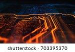 orange and blue technology... | Shutterstock . vector #703395370